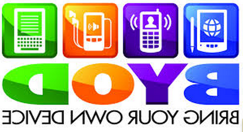 Colourful logo depicting various electronic devices with the acronym BYOD and the words Bring your own device